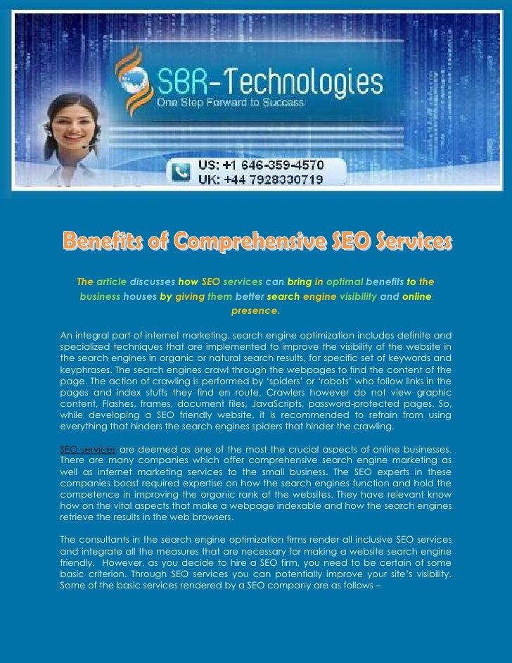 Benefits of Comprehensive SEO Services