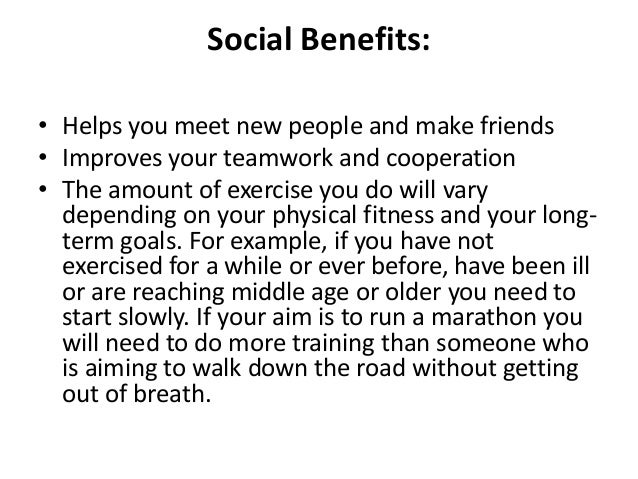 Essay on benefits of exercise
