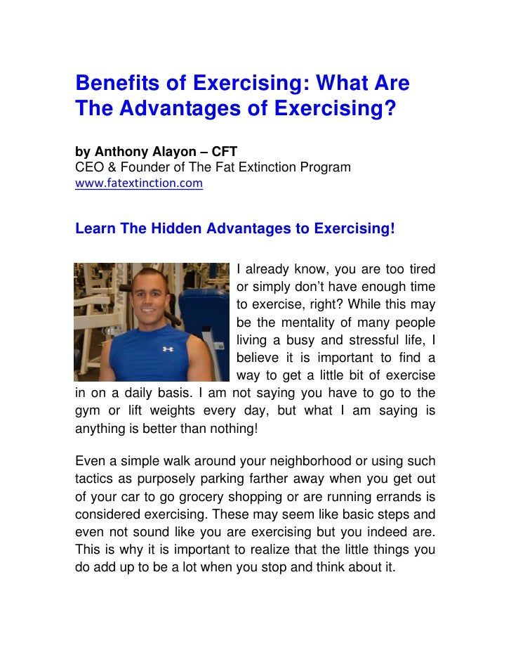 Benefits of Exercising: 5 Advantages of Exercising?