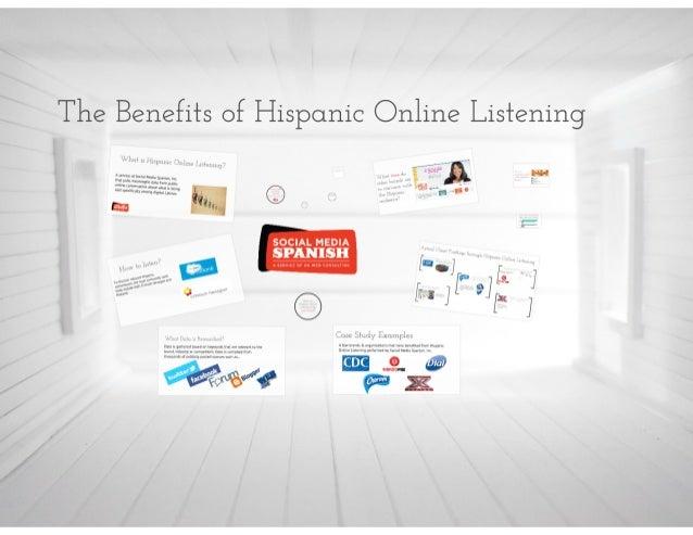 The Benefits of Hispanic Online Listening