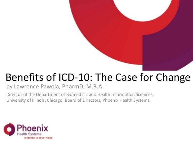 Benefits of ICD-10