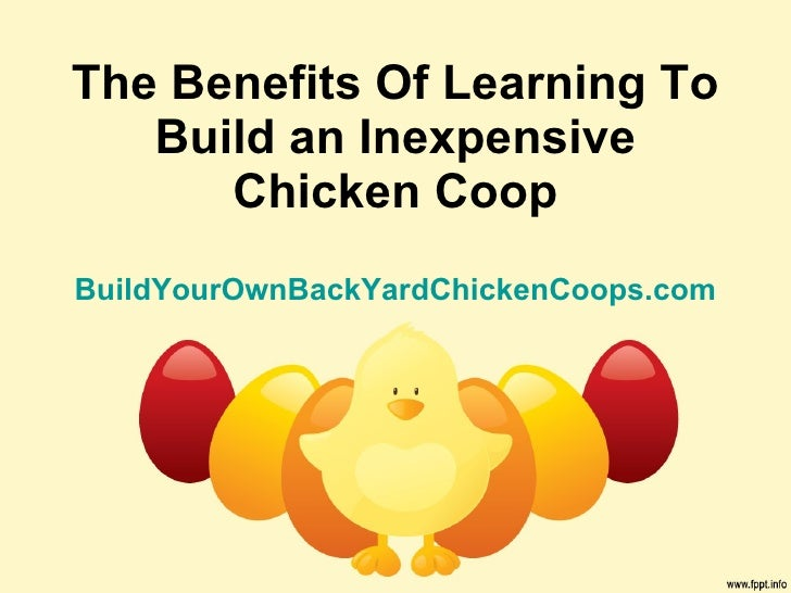 The Benefits Of Learning To Build an Inexpensive Chicken Coop BuildYourOwnBackYardChickenCoops.com