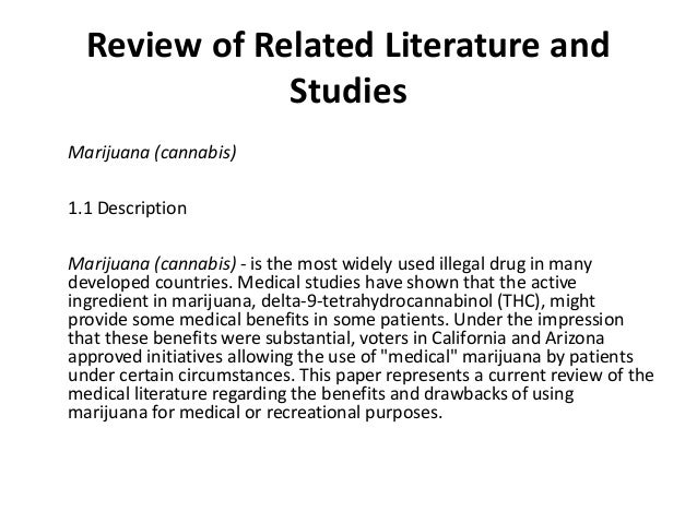 Marijuana Legalization Thesis Statement + Outline