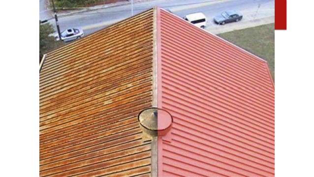 Barn Roof Half Painted