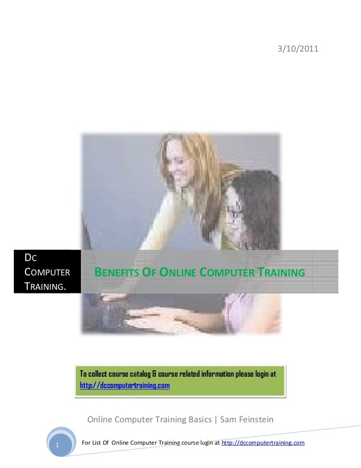 Benefits of online computer training