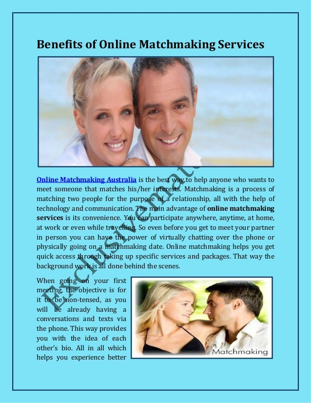 Matchmaking services online