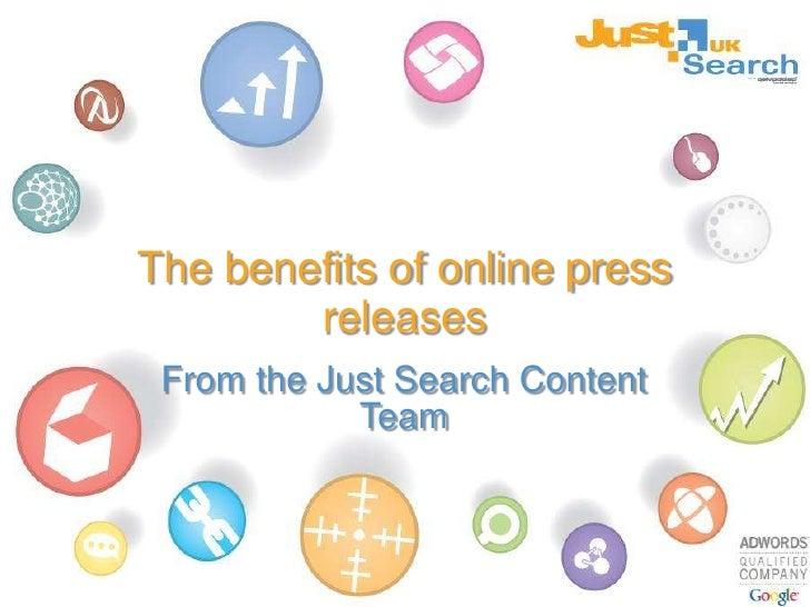 Benefits of online press releases