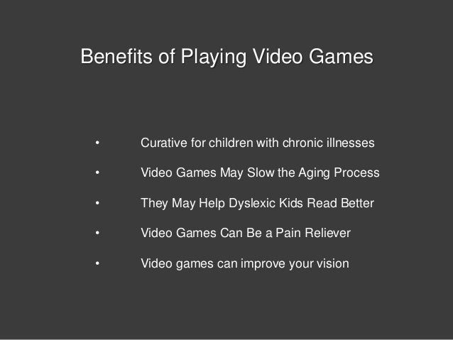 the advantages of video games essay Quick answer despite video games being associated with violence, numerous studies show that there are several physical and psychological advantages, including improved hand-eye coordination, enhanced creativity, physiotherapy benefits and improved math and language skills.
