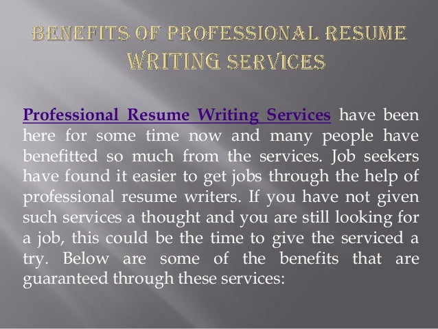 Resume writing services for it professionals