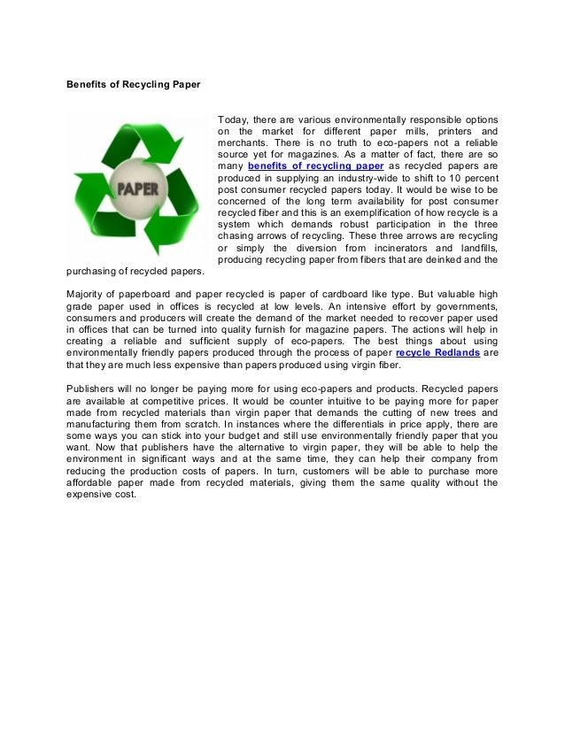 simple essay recycling Interested in learning how paper is recycled or how you can recycle your own paper at home check out these simple steps to help get you started.