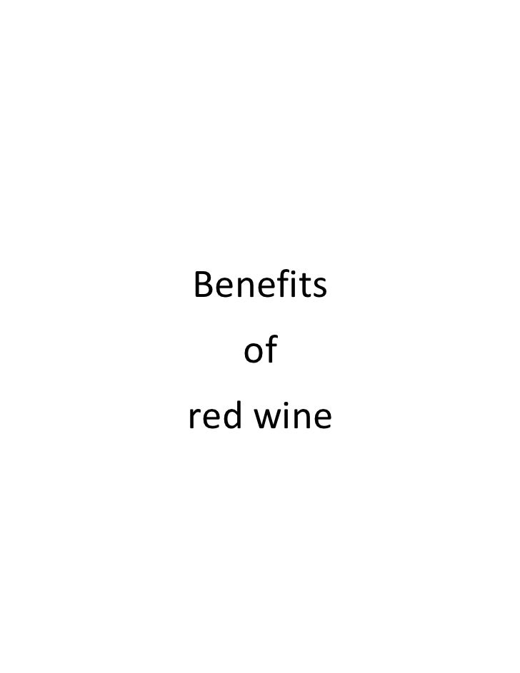 Benefits   ofred wine