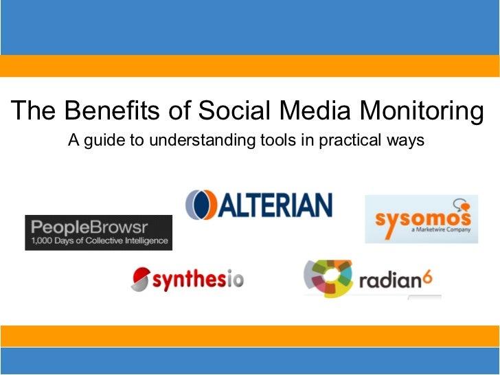 Benefits of Social Media Monitoring