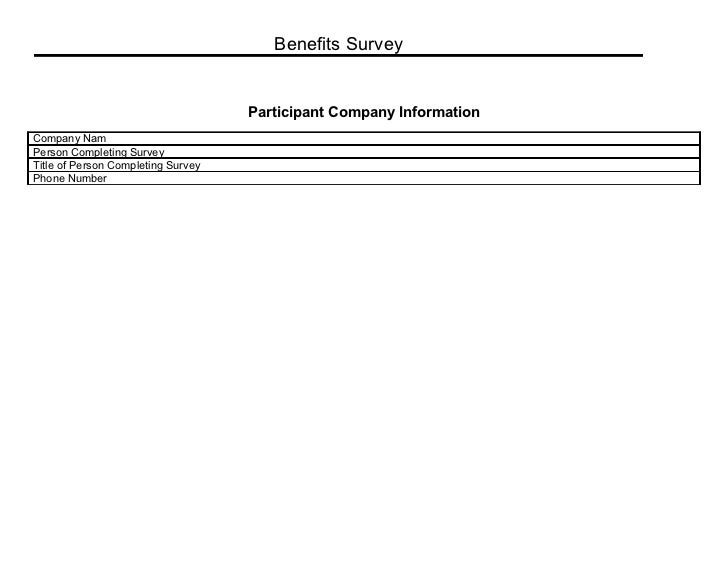 Benefits survey 1
