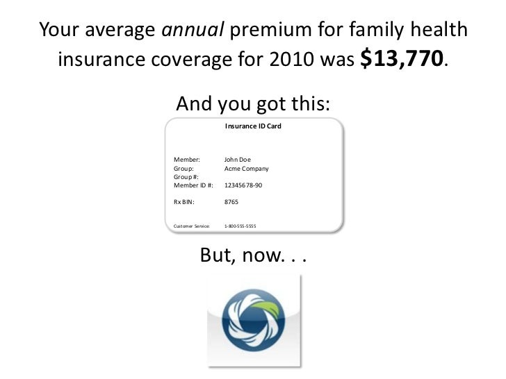 Your average annual premium for family health insurance coverage for 2010 was $13,770.<br />And you got this:<br />But, no...