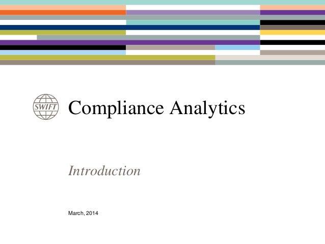 Benelux forum 2014 - Compliance Analytics