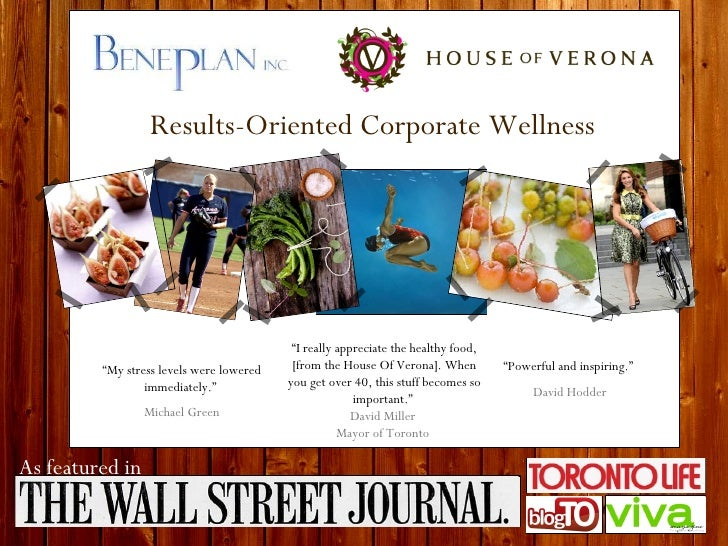 """Results-Oriented Corporate Wellness """" My stress levels were lowered immediately.""""  Michael Green """" Powerful and inspiring...."""