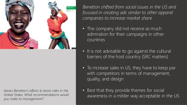 benetton marketing analysis John paul mifsud- introduction to integrated marketing communications benetton of art and journalism are and critically analysis the main.