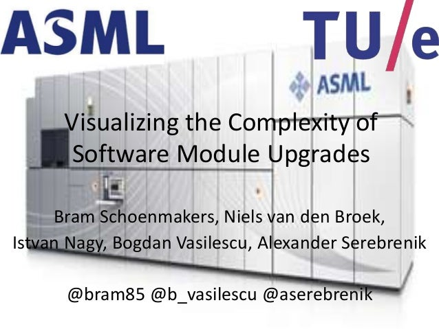 Benevol 2013: Visualizing the complexity of software module upgrades