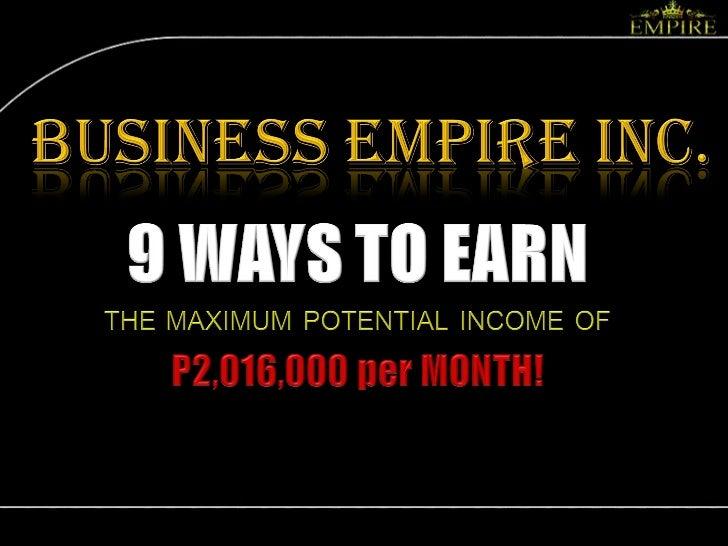9 Ways to Earn