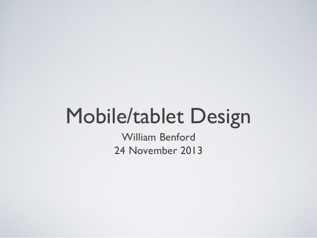 Mobile Tablet Design Presentation