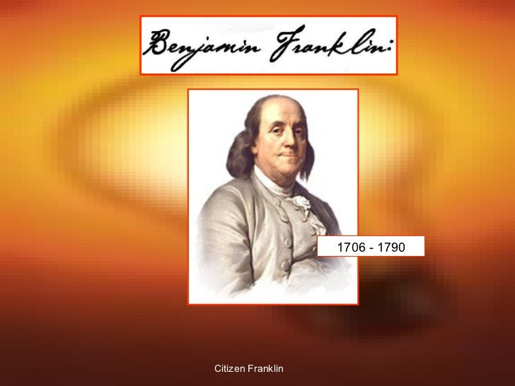 Ben Franklin Creative Citizen