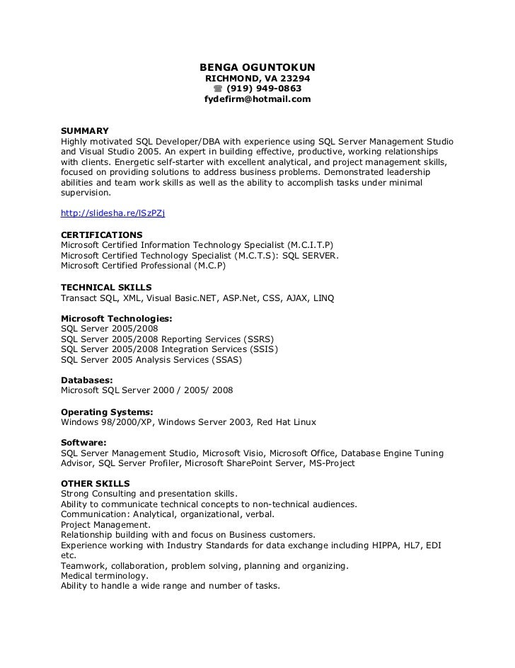 BENGA OGUNTOKUN                                  RICHMOND, VA 23294                                     (919) 949-0863   ...