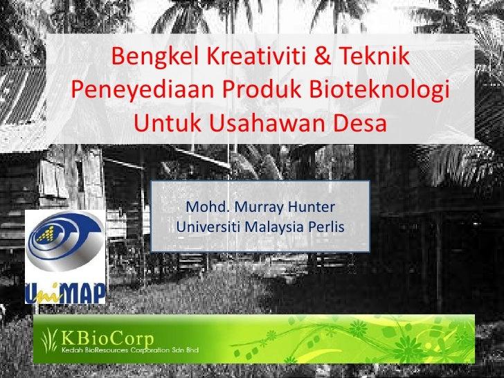 Potential Village (kampong) micro-entrepreneurship activities