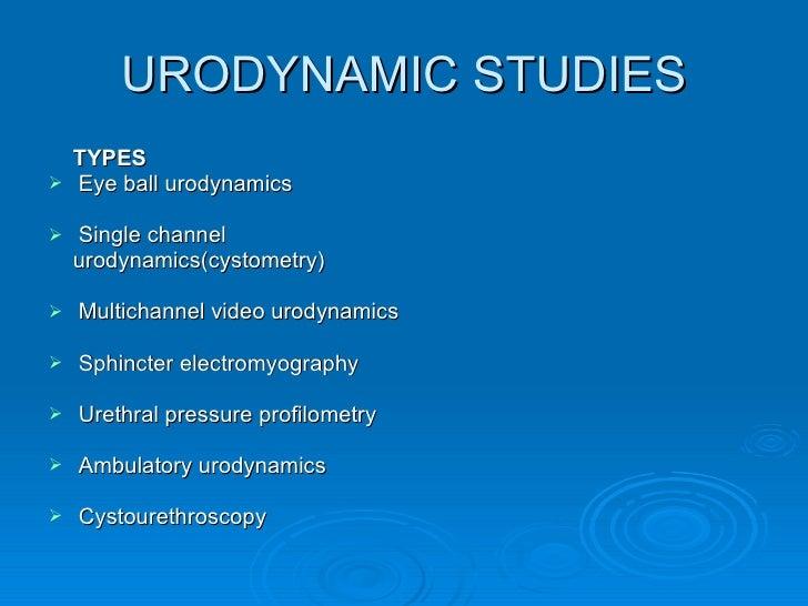 Urodynamic study uroflow