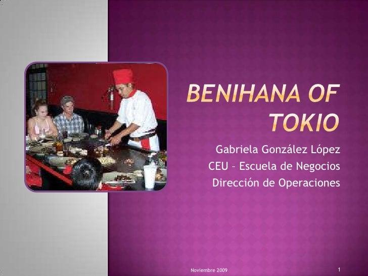 benihana case brief