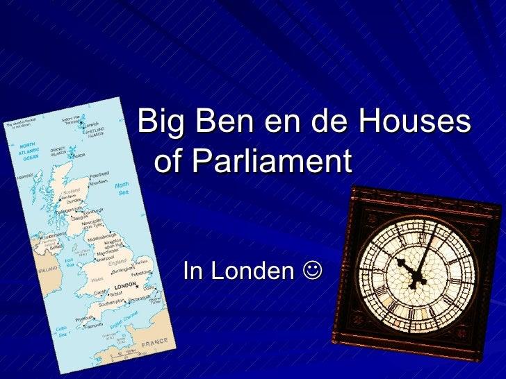 Big Ben en de Houses of Parliament In Londen  
