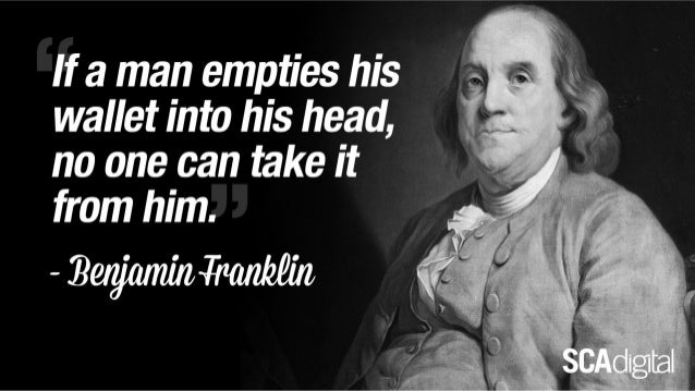 Something for the Weekend - Benjamin Franklin