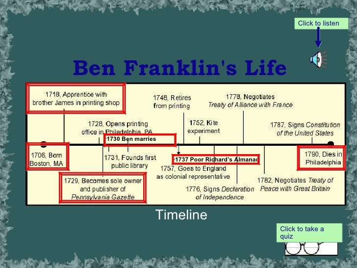 an examination of the life of benjamin franklin Everyone knows benjamin franklin flew a kite in a storm and that he signed the declaration of independence but how much do you know about his.