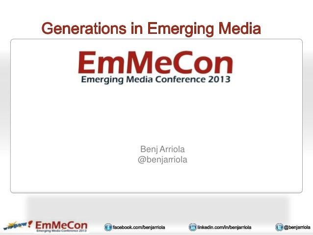 Benj Arriola - EmMeCon Seattle 2013