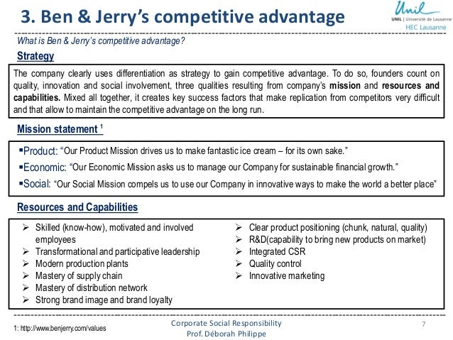 unileve and ben jerrys csr Did the acquisition of ben & jerry's by unilever 12 years ago change the multinational.