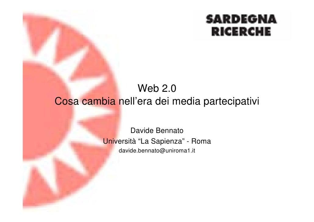 Web2.0: Cosa cambia nell'era dei media partecipativi