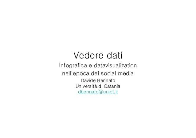 Vedere dati: infografica e data visualization nell'epoca dei social media