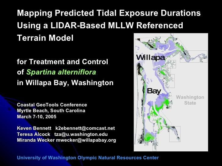 Tide Prediction GIS Model for Willapa Bay