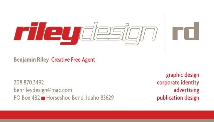 rileydesign rd Benjamin Riley Creative Free Agent                                               graphic design            ...
