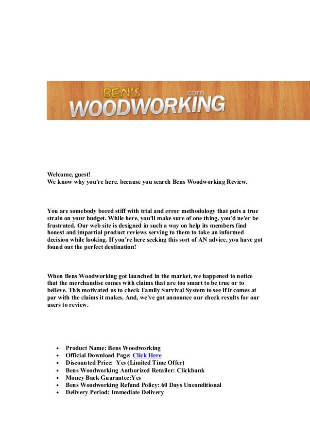 Bens woodworking review