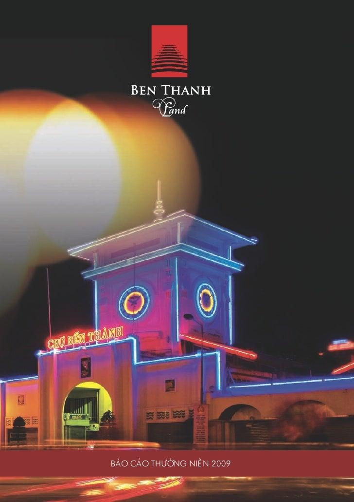 Thiet ke Bao cao thuong nien - Ben Thanh land ar 2009