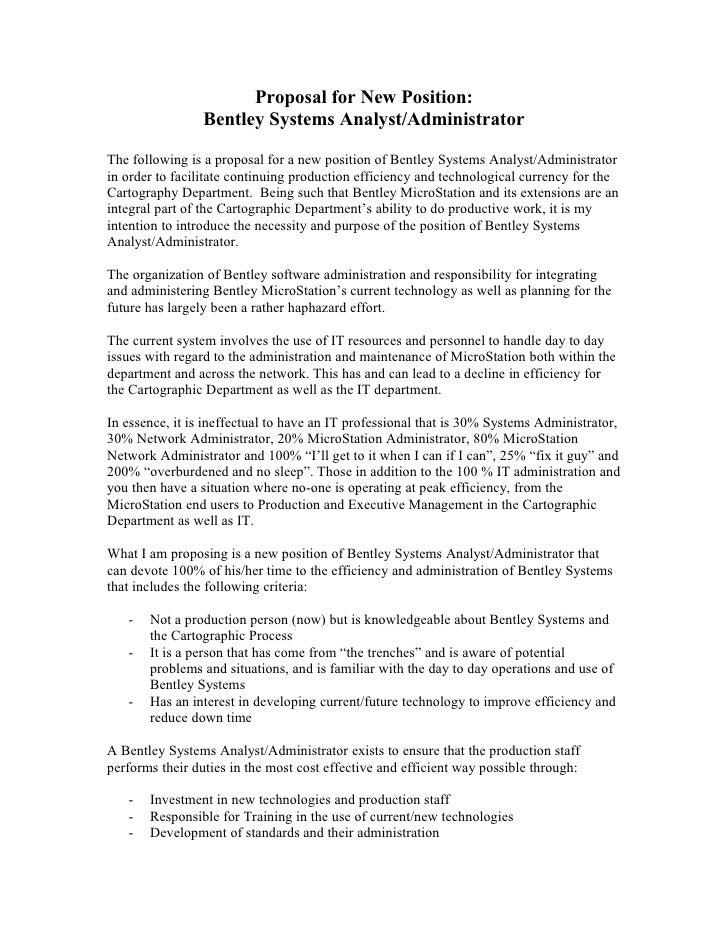 Bentley Administrator Job Description