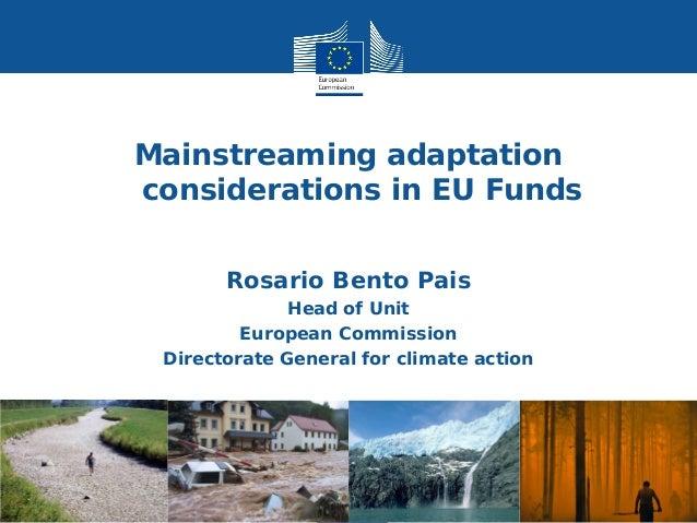 Bento eu eu funds adaptation considerations
