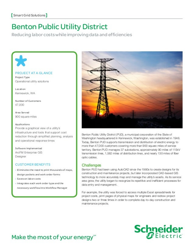 Smart Grid SolutionsBenton Public Utility DistrictReducing labor costs while improving data and efficiencies PROJECT AT A ...