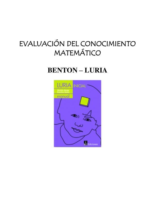 Benton y luria