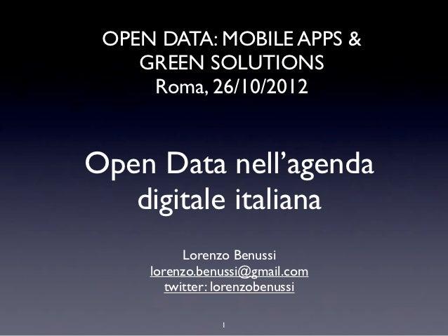 Open Data nell'agenda digitale italiana