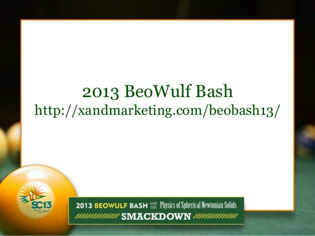 2013 BeoWulf Bash http://xandmarketing.com/beobash13/