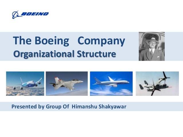 The Boeing CompanyOrganizational StructurePresented by Group Of Himanshu Shakyawar