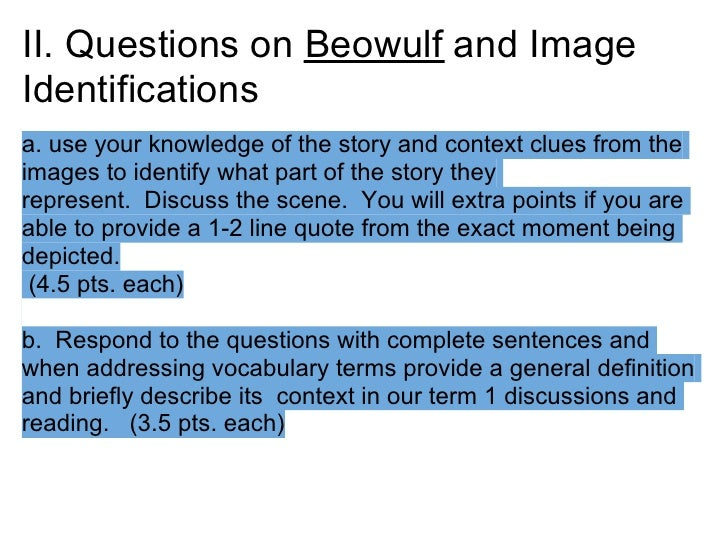 beowulf thesis statement essay