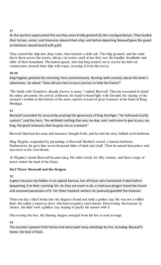 essay on reputation in beowulf Defeating her along with grendel gave beowulf a reputation of bravery and showed that he had the qualities beowulf essay (fame and glory after death) beowulf.