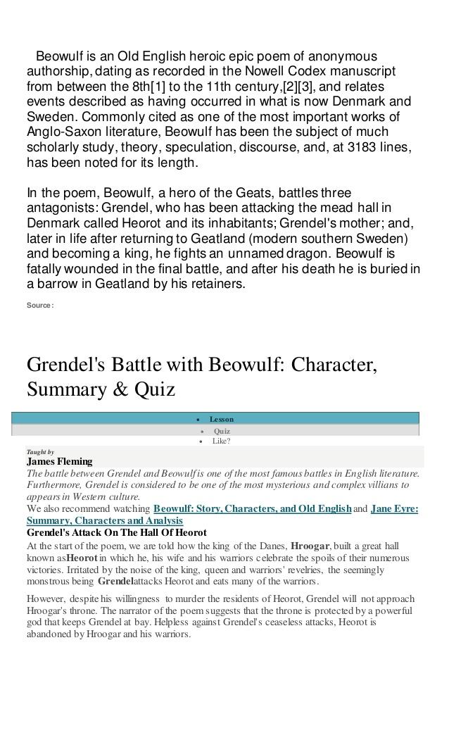 beowulf loyalty essay